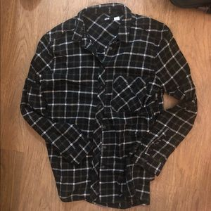 BDG Black/white flannel